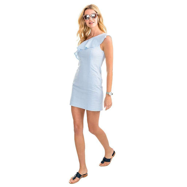 Dresses - Josephine Seersucker Dress In Boat Blue By Southern Tide