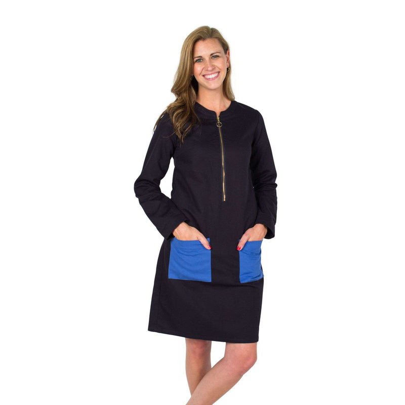Dresses - Kat Dress In Navy Slavo By Kayce Hughes - FINAL SALE