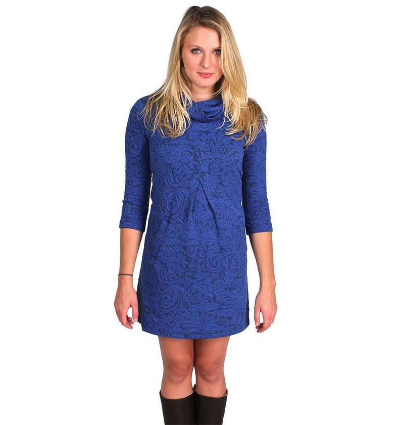 Dresses - Kim Cowl In Brilliant Blue By Tyler Boe