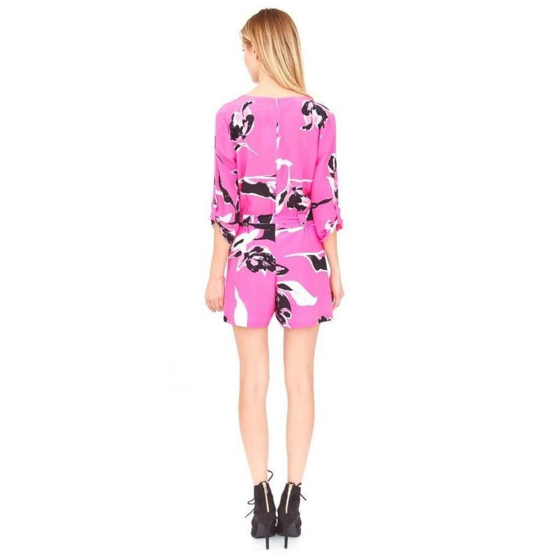 Dresses - Liz Romper In Neon Pink Tulip Splash By Yumi Kim