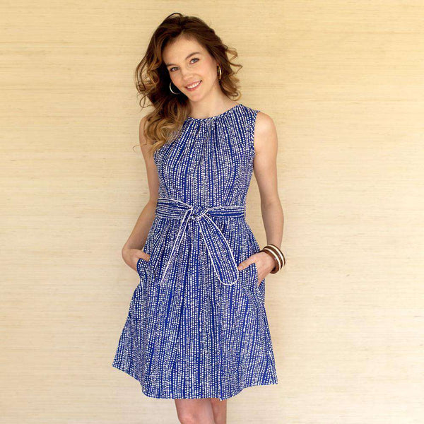 Lyndal Dress in Blue with Polka Dots by Kayce Hughes