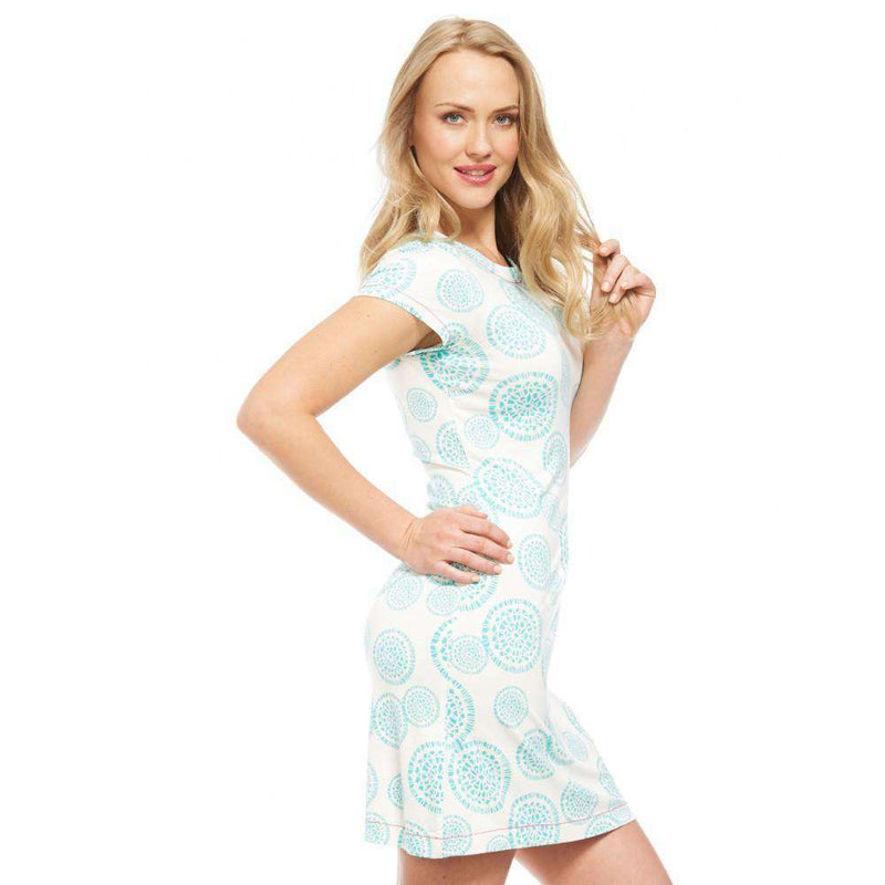 Mandala Turquoise Tee Shirt Dress by Hatley
