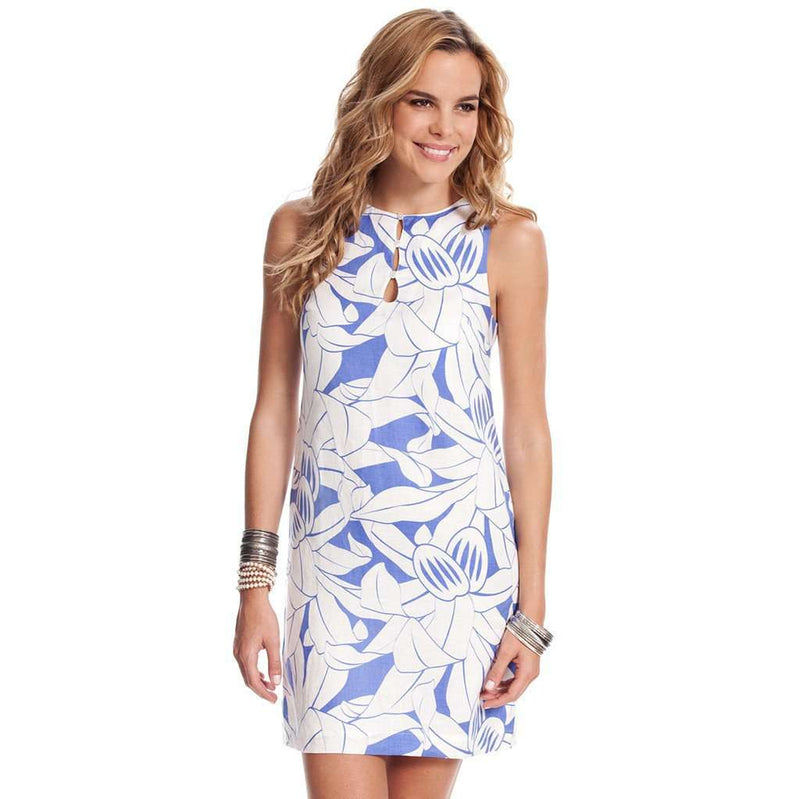 Nathalie Castaway Shift Dress in Blue by Island Company