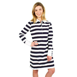 Dresses - Nattie Rugby Dress In Midnight And White By Tyler Boe