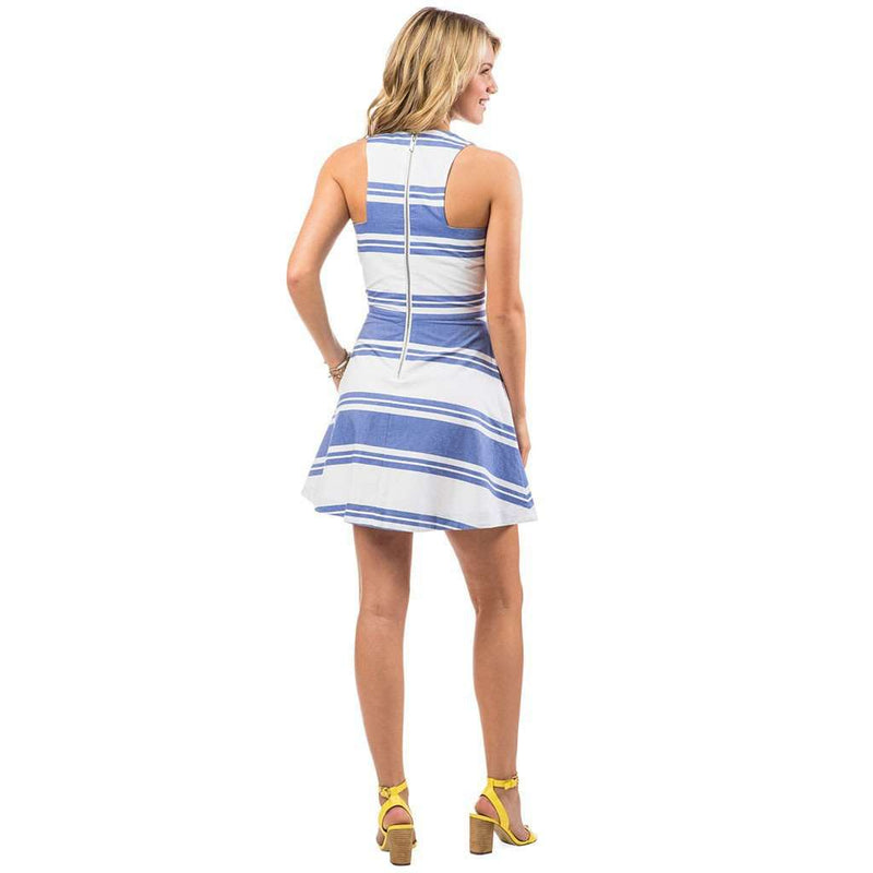 Nautical Stripe Dress in Classic White by Southern Tide