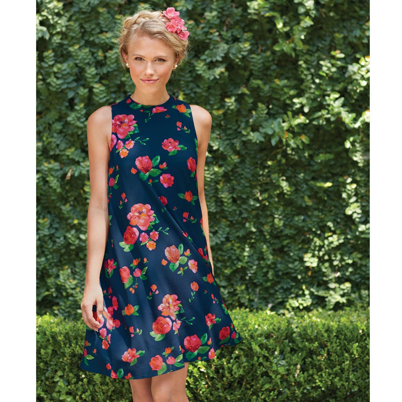 Sawyer Swing Dress in Navy Floral by Mud Pie