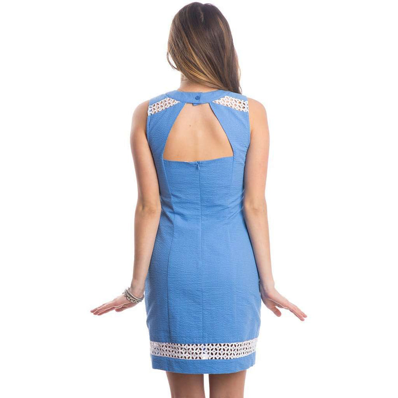 Sloane Solid Seersucker Dress in Delta Blue by Lauren James - FINAL SALE