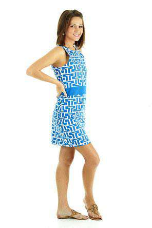 Steffi Shift Dress in Royal and White by Tracy Negoshian - FINAL SALE