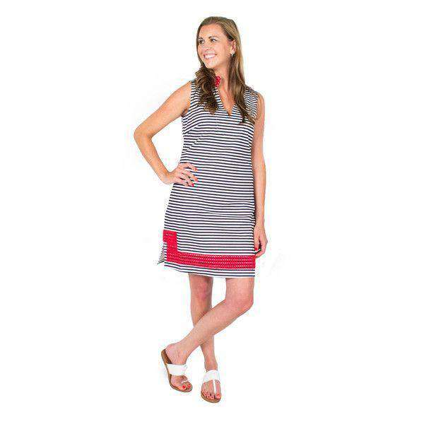 0159be7f94e ... Dresses - Striped Tunic Dress In Navy And White By Sail To Sable
