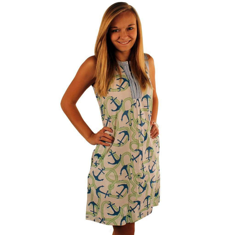 Dresses - The Anchors Aweigh Flirt Dress In Blue And Green By Gretchen Scott Designs - FINAL SALE