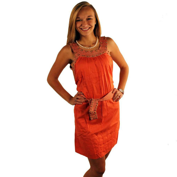 The Anguilla Dress in Coral with Gold by Gretchen Scott Designs - FINAL SALE