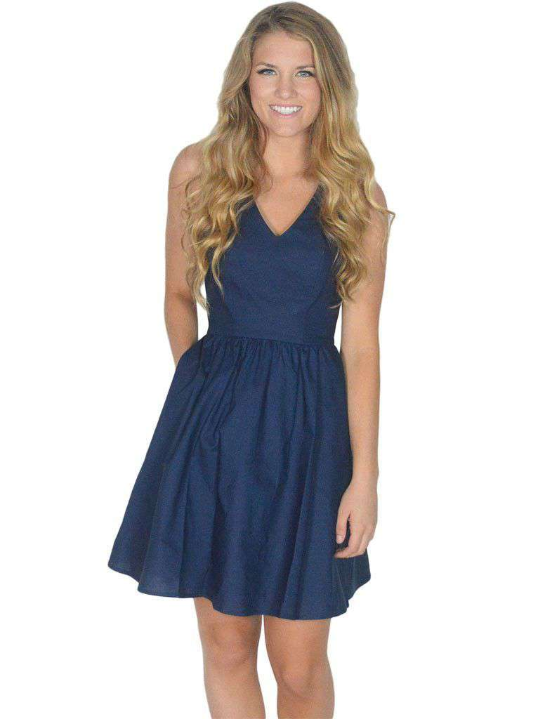 Dresses - The Augusta Dress In Navy Blue By Lauren James - FINAL SALE