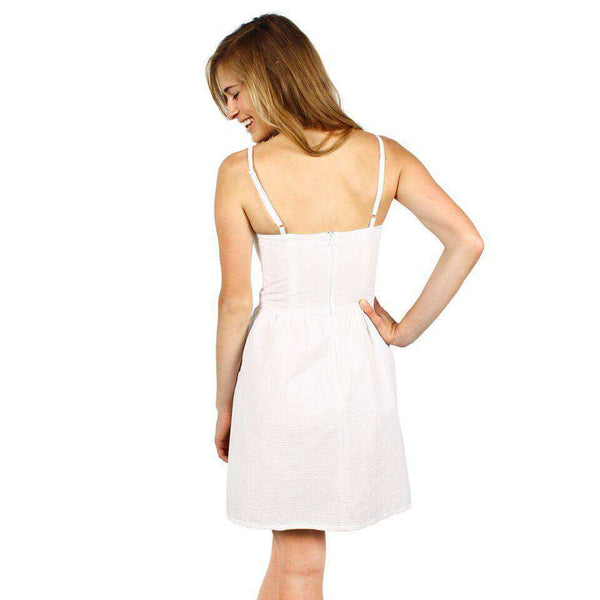 The Briana Dress in White by Dayton K