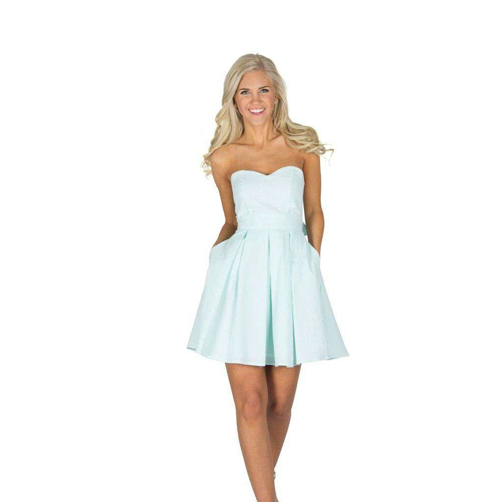 Dresses - The Corbin Dress In Mint Seersucker By Lauren James - FINAL SALE