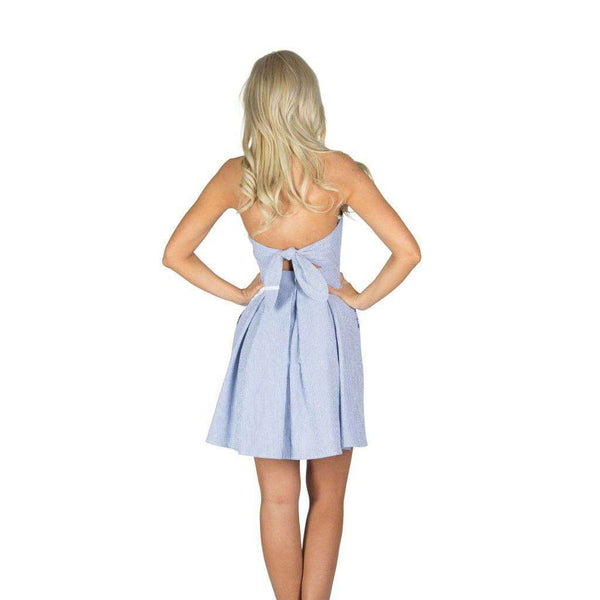 Dresses - The Corbin Dress In Navy Seersucker By Lauren James - FINAL SALE