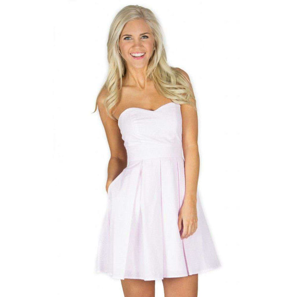 Dresses - The Corbin Dress In Pink Seersucker By Lauren James - FINAL SALE