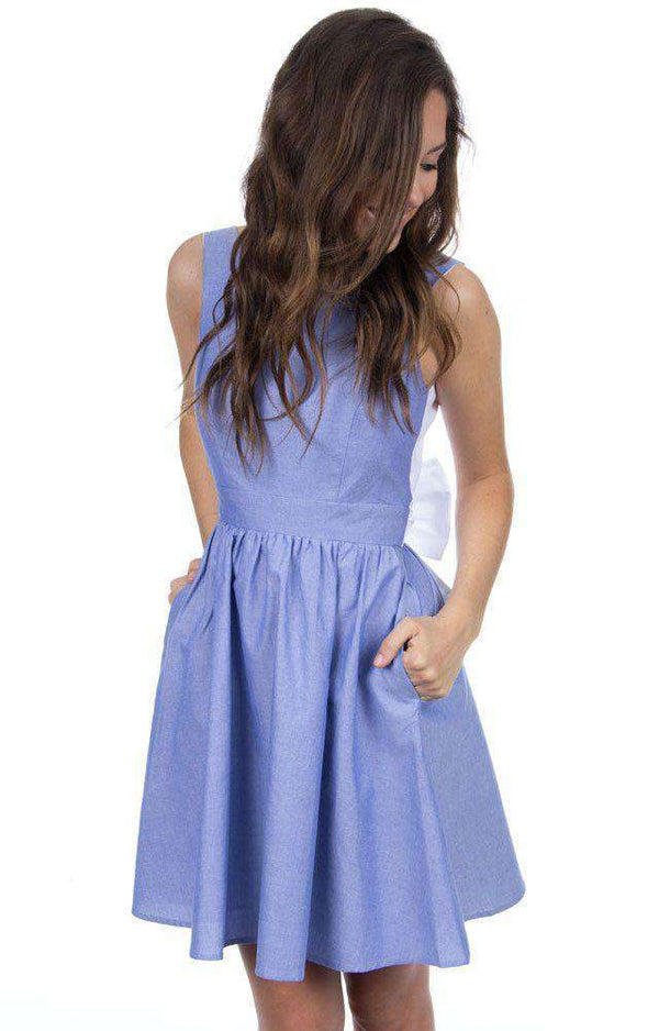 Dresses - The Emerson Oxford Dress In Blue By Lauren James - FINAL SALE