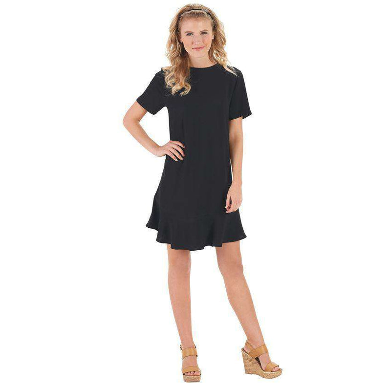 Dresses - The Farrah Flounce Dress In Black By Mud Pie