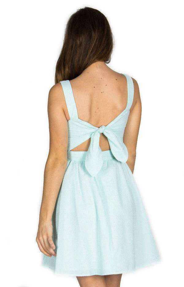 Dresses - The Garrison Seersucker Dress In Mint By Lauren James - FINAL SALE