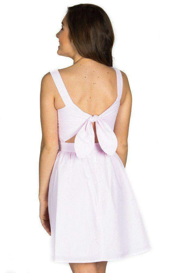 Dresses - The Garrison Seersucker Dress In Pink By Lauren James - FINAL SALE