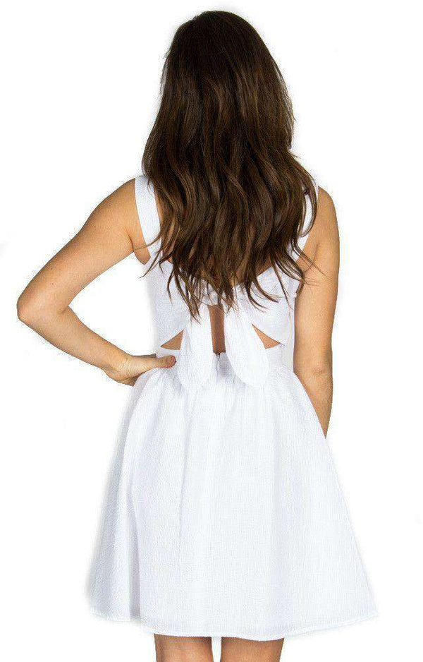 Dresses - The Garrison Seersucker Dress In White By Lauren James - FINAL SALE