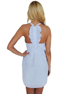 Dresses - The Hampton Dress In Blue Seersucker By Lauren James - FINAL SALE
