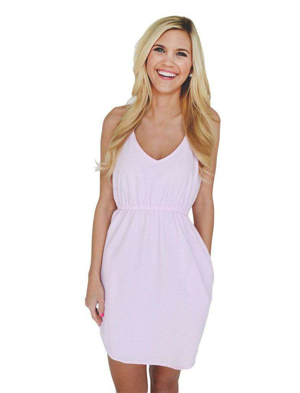 Dresses - The Hampton Dress In Pink Seersucker By Lauren James - FINAL SALE