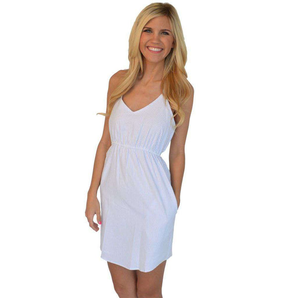 Dresses - The Hampton Dress In Soft Blue Seersucker By Lauren James - FINAL SALE