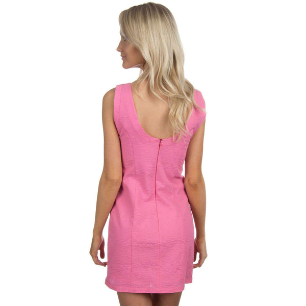 Dresses - The Harper Solid Seersucker Dress In Rose By Lauren James - FINAL SALE