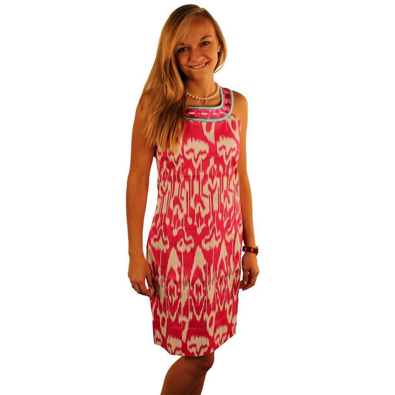 Dresses - The Ikat Yoke Dress In Fuchsia By Gretchen Scott Designs - FINAL SALE