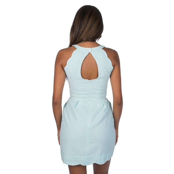 The Landry Seersucker Dress in Mint by Lauren James - FINAL SALE