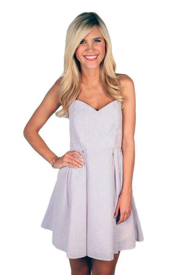 Dresses - The Livingston Dress In Lavender Seersucker By Lauren James - FINAL SALE