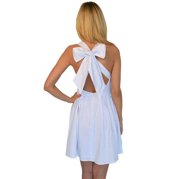 Dresses - The Livingston Dress In Light Blue Seersucker By Lauren James - FINAL SALE