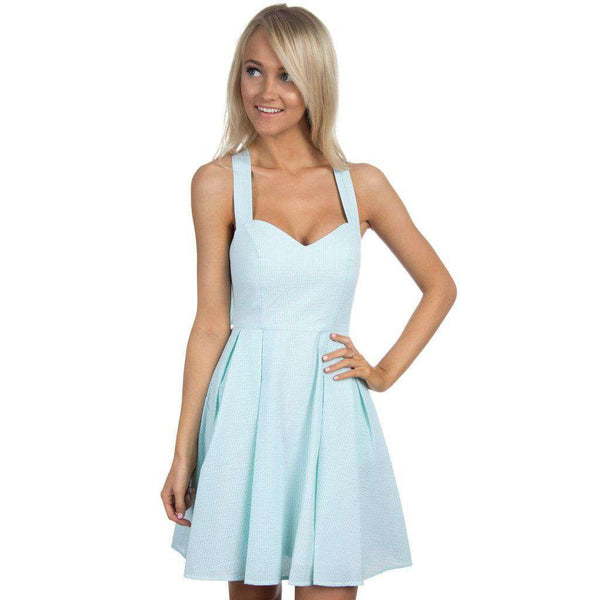 Dresses - The Livingston Dress In Mint Seersucker By Lauren James - FINAL SALE
