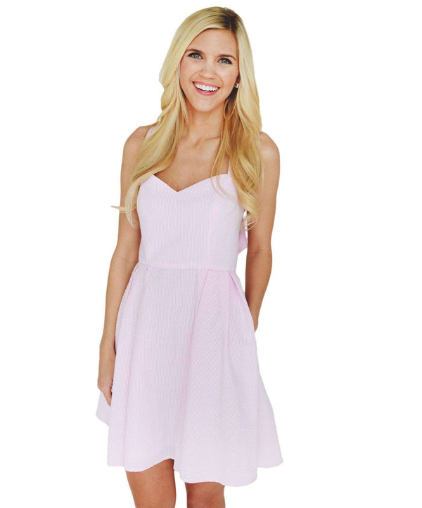 Dresses - The Livingston Dress In Pink Seersucker By Lauren James - FINAL SALE