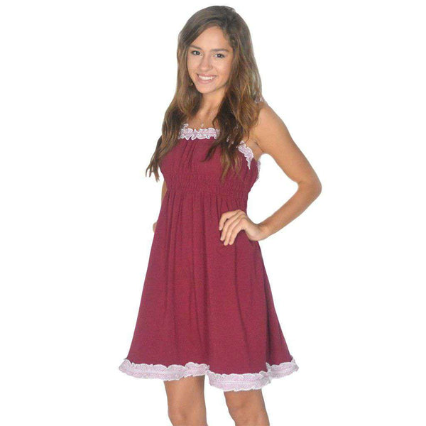 Dresses - The Mackenzie Dress In Crimson By Lauren James - FINAL SALE