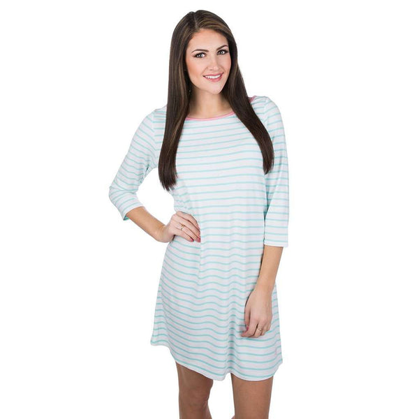 Dresses - The Maggie Dress In Ocean Palm By Lauren James