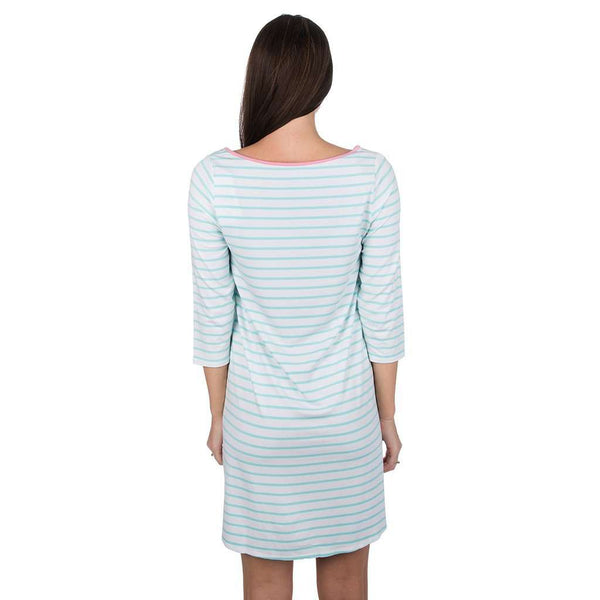 The Maggie Dress in Ocean Palm by Lauren James