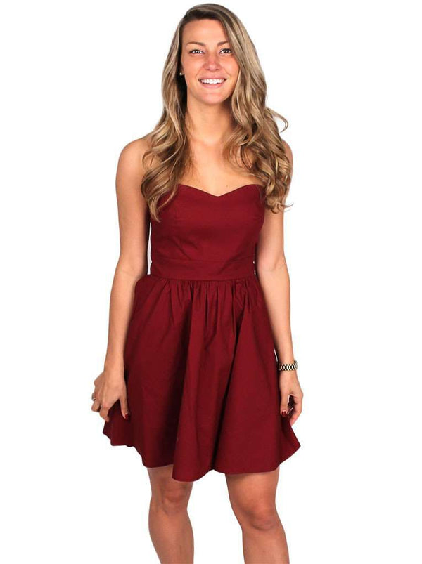 Dresses - The Savannah Dress In Crimson By Lauren James - FINAL SALE