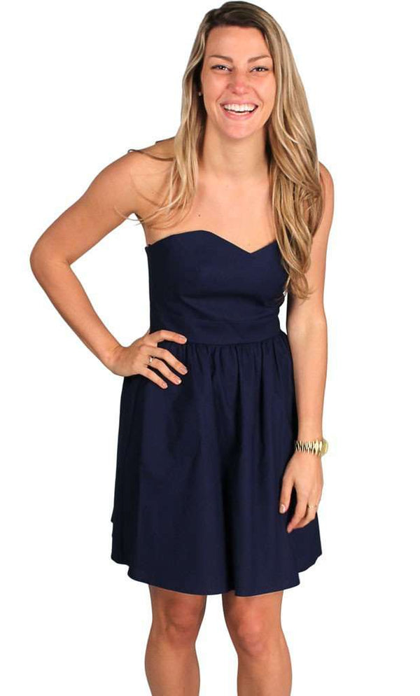 Dresses - The Savannah Dress In Navy Blue By Lauren James - FINAL SALE