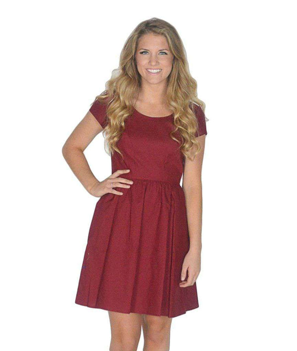 Dresses - The Sheridan Dress In Crimson By Lauren James - FINAL SALE