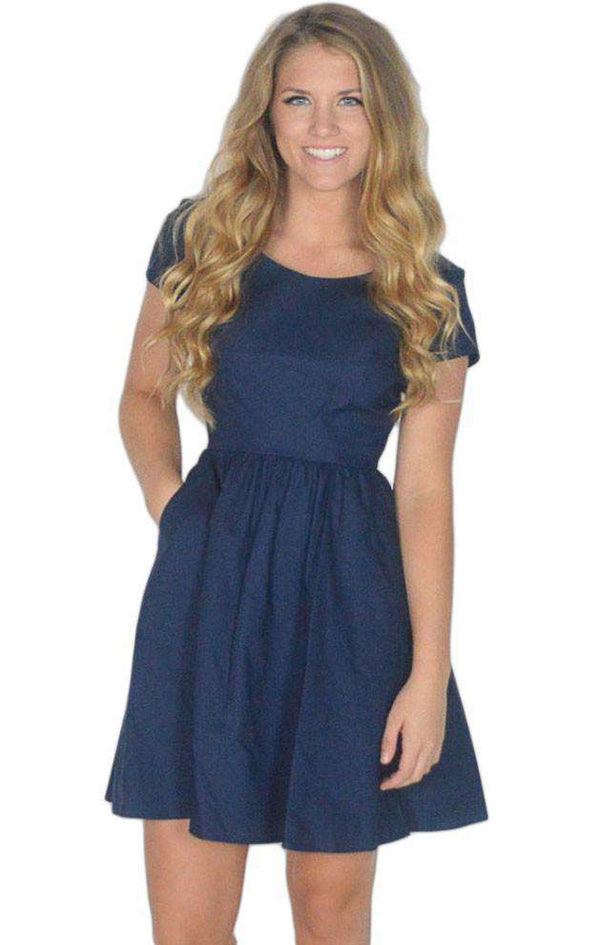 Dresses - The Sheridan Dress In Navy Blue By Lauren James - FINAL SALE