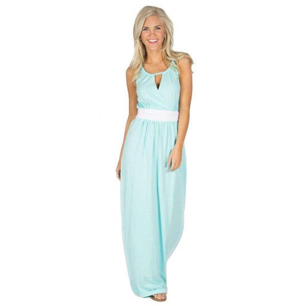 Dresses - The Sterling Maxi Dress In Aqua By Lauren James - FINAL SALE