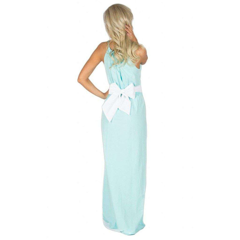 The Sterling Maxi Dress in Aqua by Lauren James - FINAL SALE