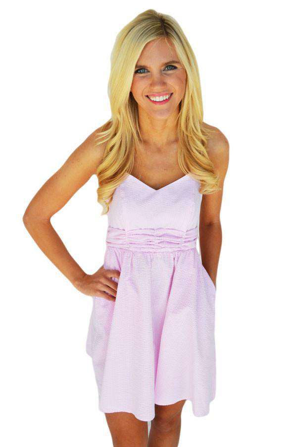 Dresses - The Stratton Dress In Pink Seersucker By Lauren James - FINAL SALE
