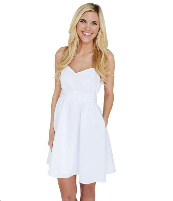Dresses - The Stratton Dress In White Seersucker By Lauren James - FINAL SALE