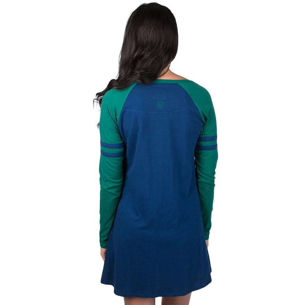 Varsity Long Sleeve Dress in Estate Blue by Lauren James - FINAL SALE
