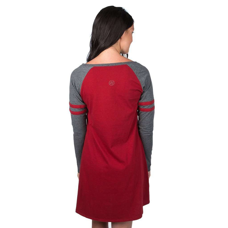 Varsity Long Sleeve Dress in Red by Lauren James - FINAL SALE