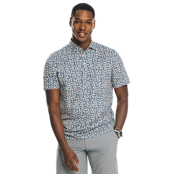 Driver Brewers Print Performance Polo by Southern Tide