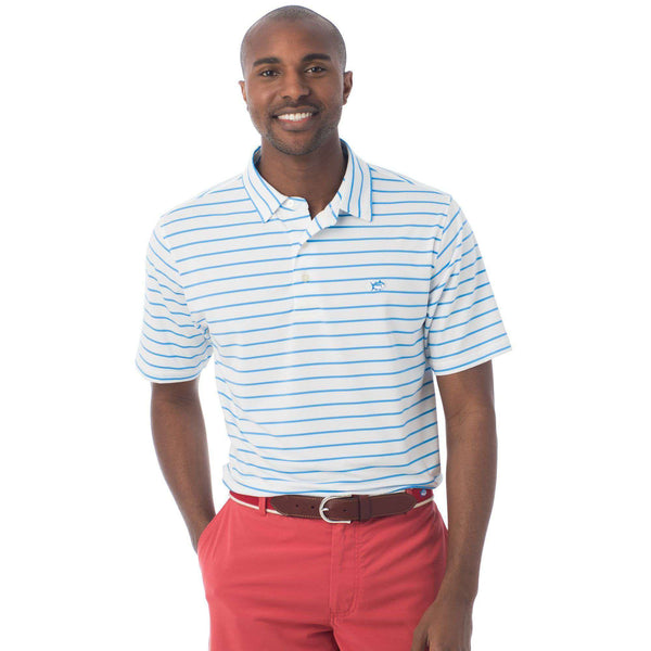 Driver Stripe Performance Polo in Classic White by Southern Tide